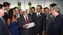 Comitiva da Acrissul em encontro com Presidente Lula, em Brasilia (18.02)