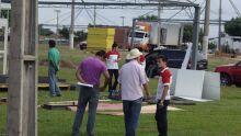 Expositores começam a montar stands no Parque