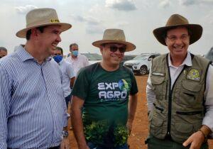 Expoagro: secretário Riedel e ministro do Turismo visitam feira em Dourados