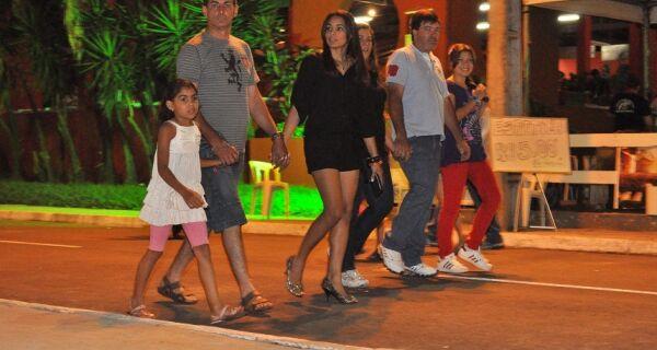 Público Familiar aproveita atrações da Expogrande