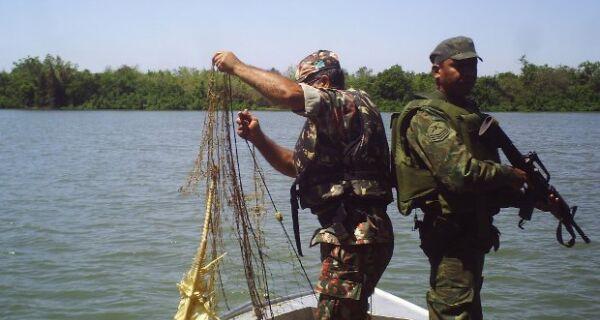 Polícia apreende quase meio quilômetro de redes de pesca em MS