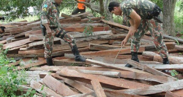 Fazendeiro é multado em R$ 14,4 mil por armazenar madeira ilegal em MS