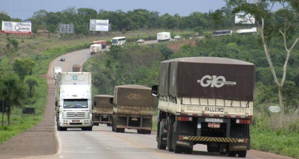 Centro-Oeste registra 206 mil caminhões em circulação
