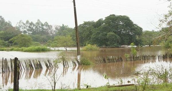 Em Bela Vista, cheia do rio Apa desabriga cerca de 40 famílias