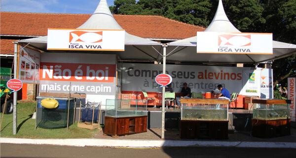 Com localização privilegiada Projeto Isca Viva apresenta alevinos durante Expogrande 2013