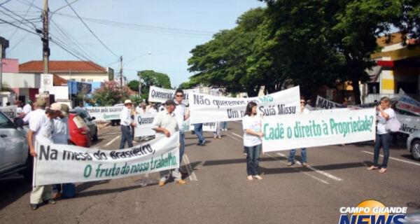 Produtores rurais protestam contra invasões indígenas no Estado