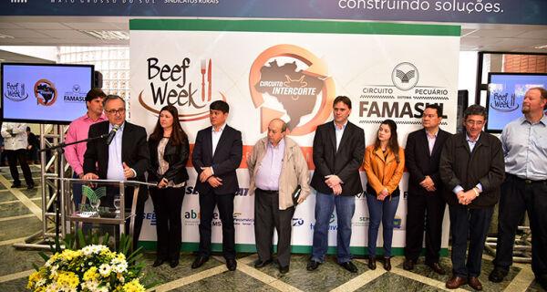 Lançamento da Beef Week MS reforça união dos elos da cadeia produtiva da carne bovina