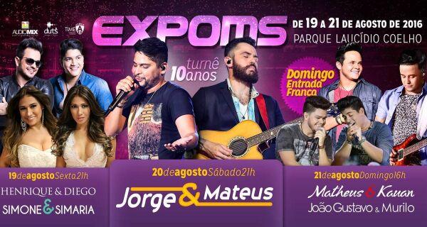 Ingressos para shows da Expo MS Rural estão à venda