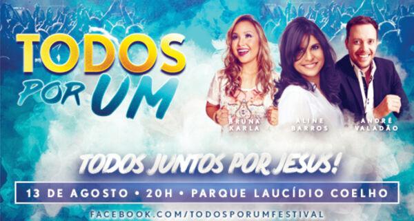 André Valadão, Aline Barros e Bruna Karla fazem show na Acrissul dia 13