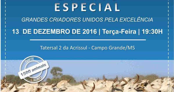 Comitiva coloca 1.500 animais de corte à venda hoje na Acrissul