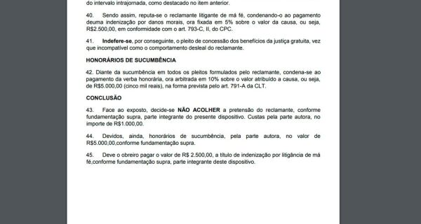 No 1º dia da reforma trabalhista, juiz condena empregado rural a pagar R$ 8,5 mil