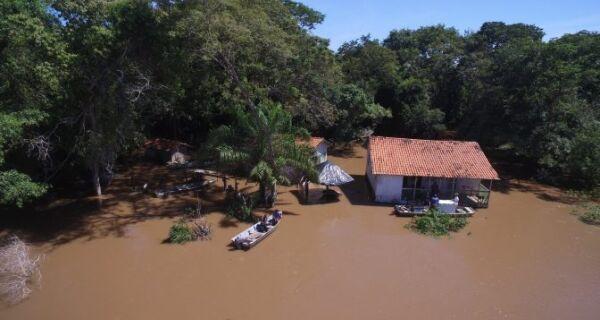 Nível do Rio Miranda ultrapassa os 7 metros e permanece em estado de emergência