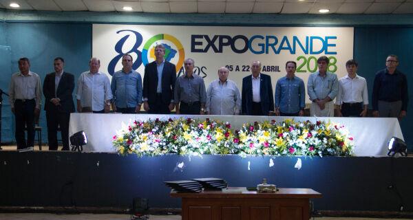Deputados prestigiam abertura da Expogrande e reforçam importância da pecuária