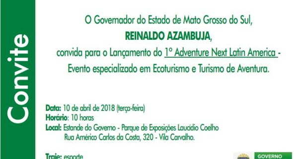 Governador lança 1º AdventureNEXT Latin America na Expogrande 2018