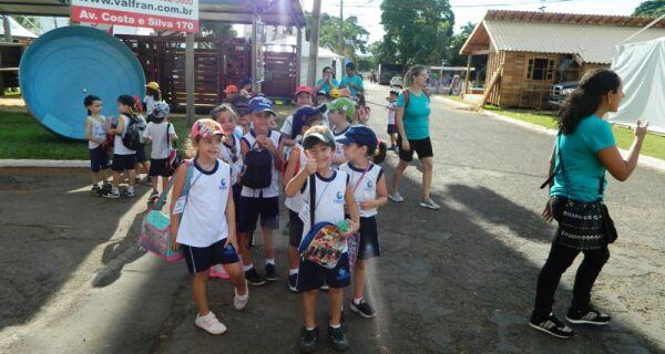 Educação infantil também visita 80ª Expogrande