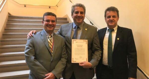 MS esteve representado na entrega do certificado de país livre da febre aftosa