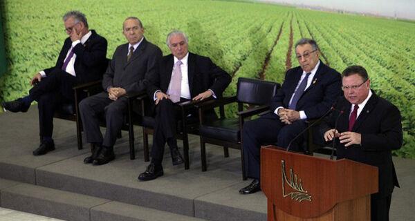 Temer e Maggi anunciam R$ 194,3 bilhões para Plano Agrícola e Pecuário