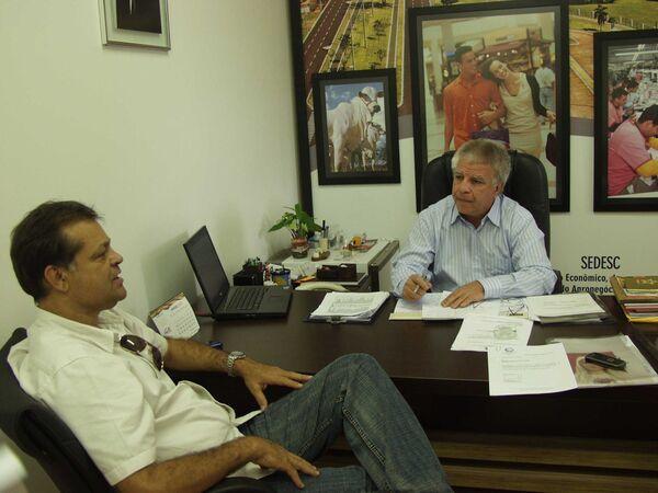 Maia se reúne com Edil Albuquerque e apresenta solicitações para a Expogrande